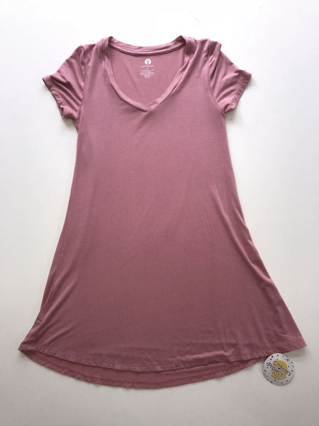 V-Neck Women's Tunic - Rose