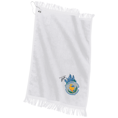 Custom Embroidered Grommeted Finger Tip Towel