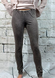 Mineral Wash Knit Legging in Taupe