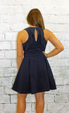 Adelyn Rae Fit and Flare Dress in Navy or Red