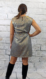 Black and Gold Metallic Dress