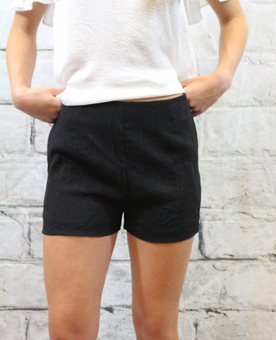 Black Gauze Fabric Dressy Short