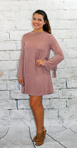 Heather Pink Sweater Dress