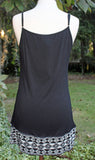 Embroidered Hem Slip Extender in Black, Taupe, and Off White