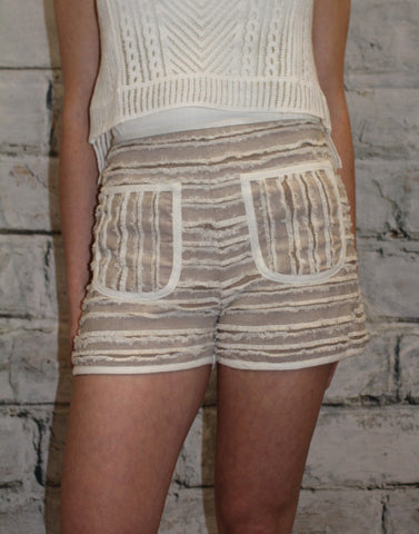 Mocha High Waist Front Pocket Short