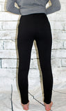 Black Knit Open Knee Leggings