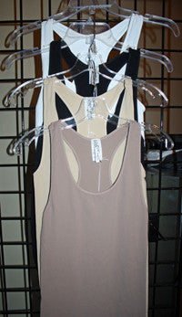 Racerback Seamless Tanks in Black, Mocha, Nude, or Ivory