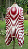 Crimson Stripe Flowy Knit Top
