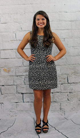 Black and Grey Cheetah Print Dress