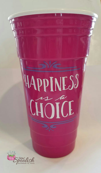 """Happiness is a Choice"" 32 oz Motivational Tumbler"