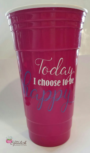 """Today I Choose to be Happy"" 32 oz Motivational Tumbler"