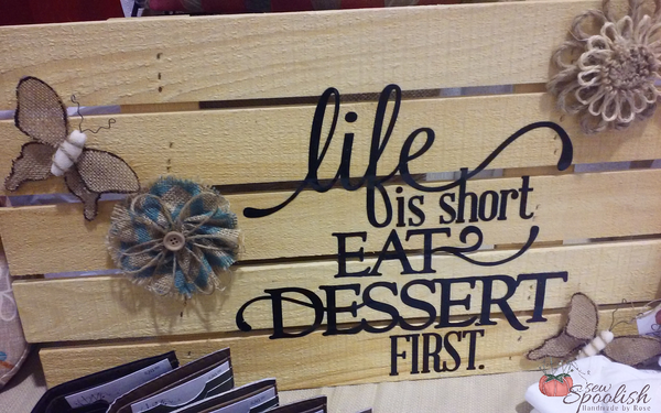 """Life is Short, Eat Dessert First"" Wall Decor"
