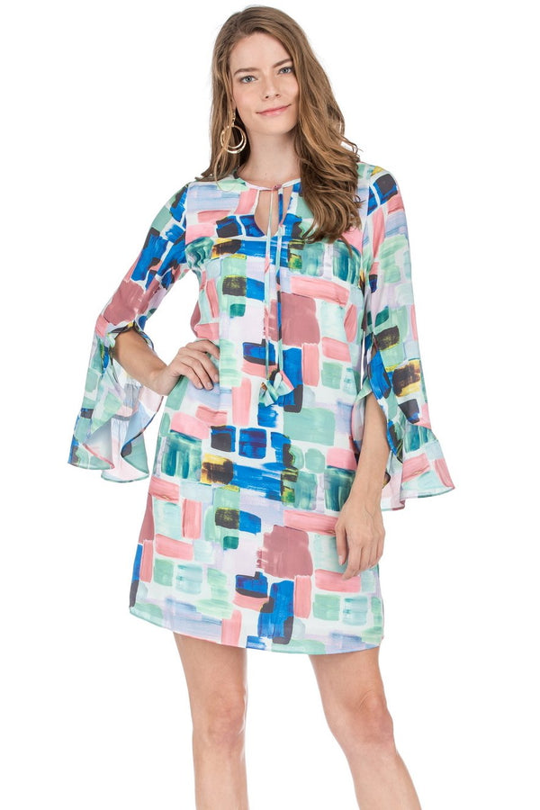 JOYJOY Flutter Sleeve Dress