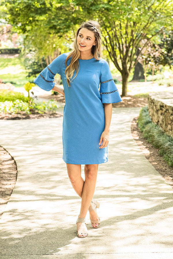 Jade | Bell Sleeve Sheath Dress