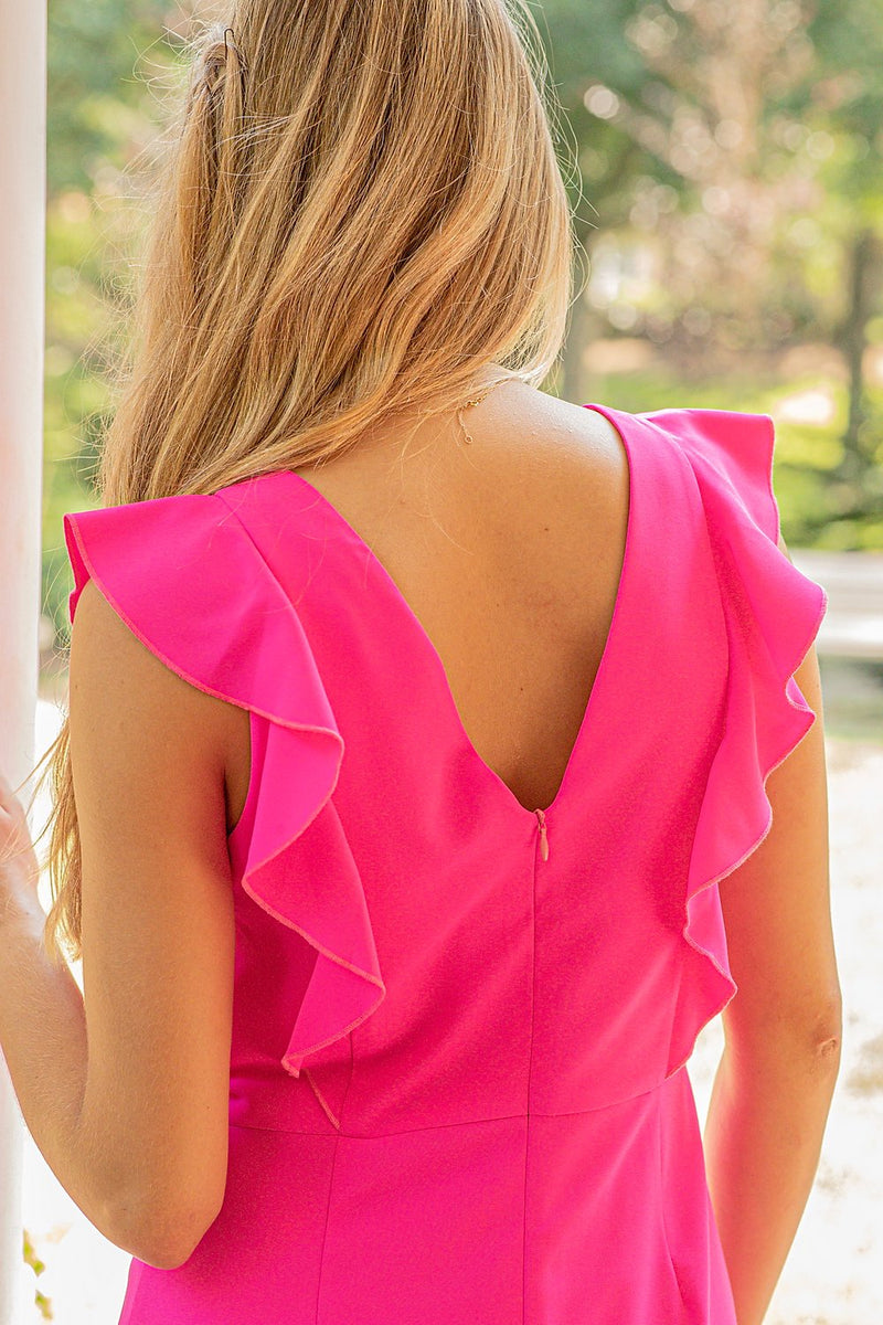 JADE | Pink Ruffles Dress