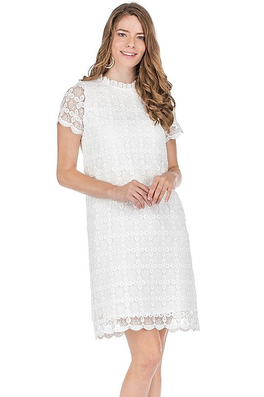 JADE Daisy Lace Short Sleeve Dress
