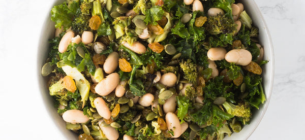 ROASTED BROCCOLI SALAD WITH WHITE BEANS