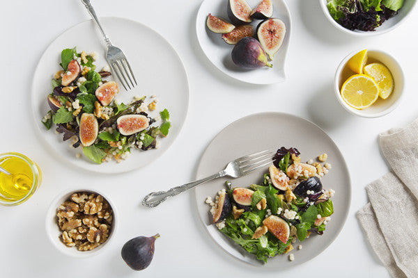 FIG SALAD WITH TOASTED WALNUTS & LEMON MAPLE VINAIGRETTE