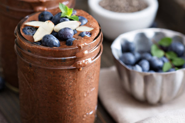 SELENIUM-RICH CHOCOLATE CHIA SEED PUDDING
