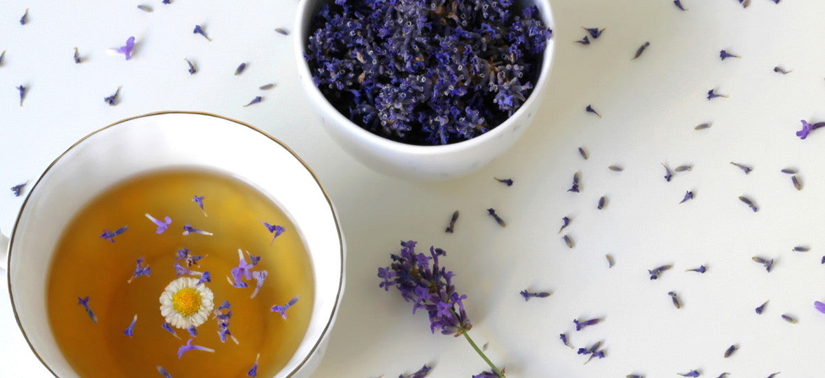SOOTHE YOUR BODY FROM THE INSIDE OUT WITH CHAMOMILE + LAVENDER