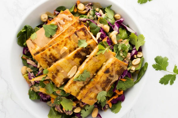 THAI PEANUT SALAD WITH CRISPY TOFU