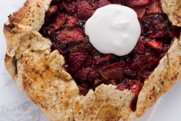 STRAWBERRY CARDAMOM GALETTE WITH COCONUT WHIPPED CREAM