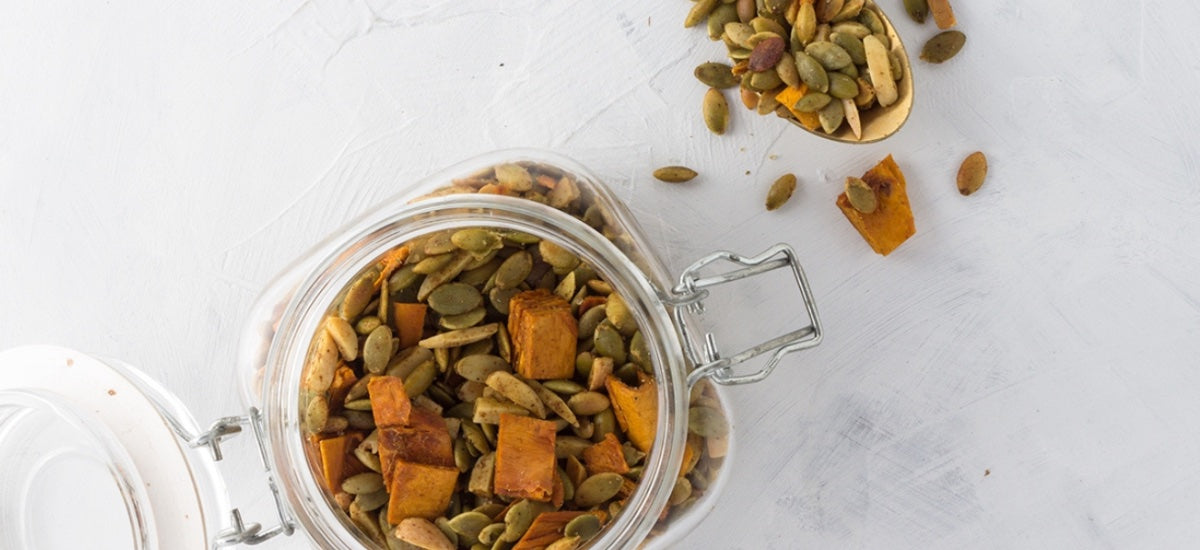 CURRIED PUMPKIN SEED TRAIL MIX
