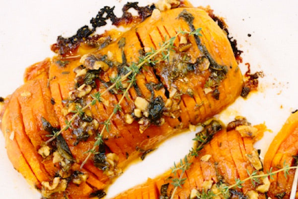 MAPLE WALNUT HASSELBACK BUTTERNUT SQUASH