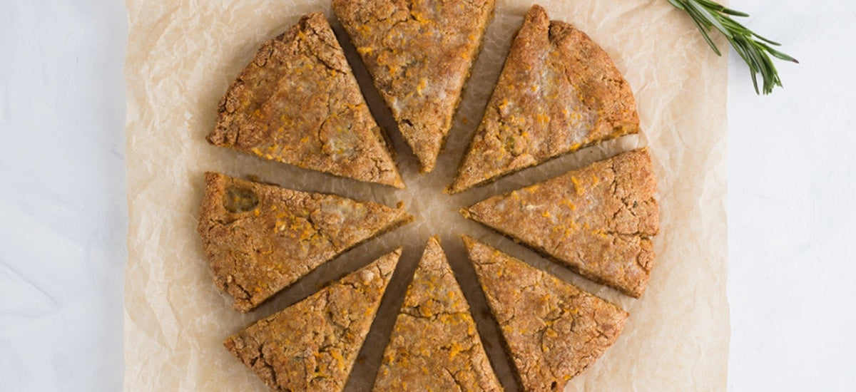ORANGE ROSEMARY AMARANTH SCONES