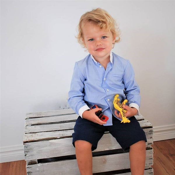 Mao collar shirt - size 2-3Y left