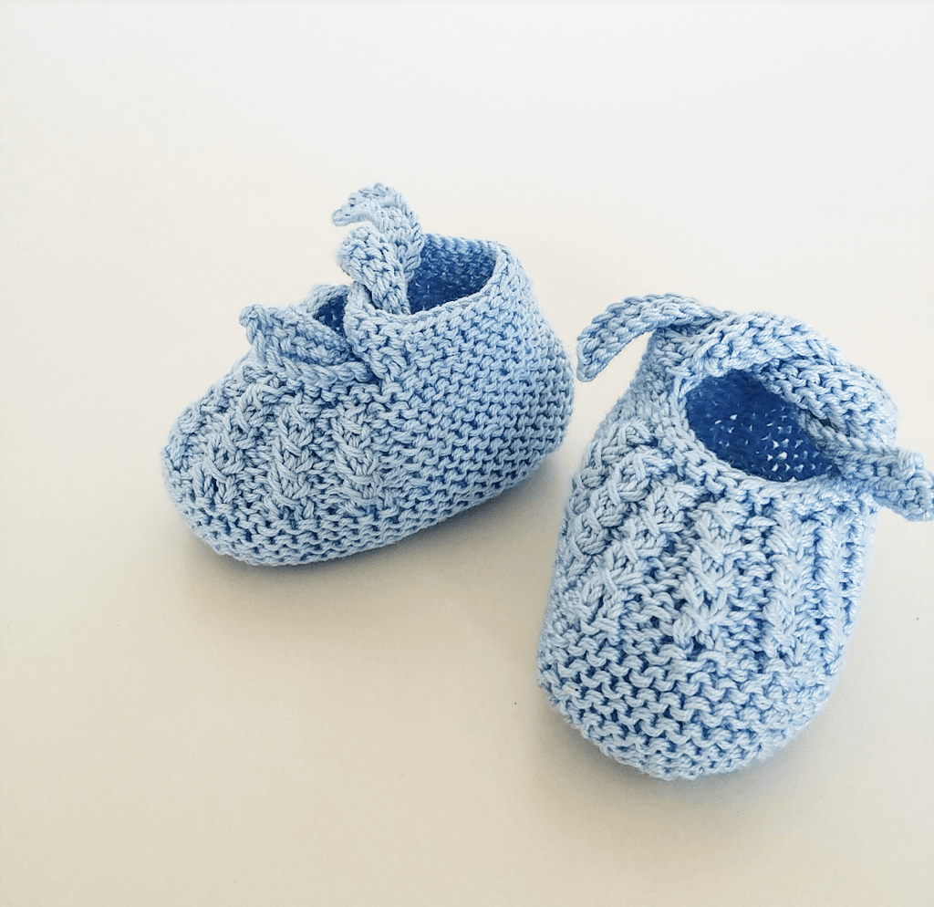 Braided booties - light blue