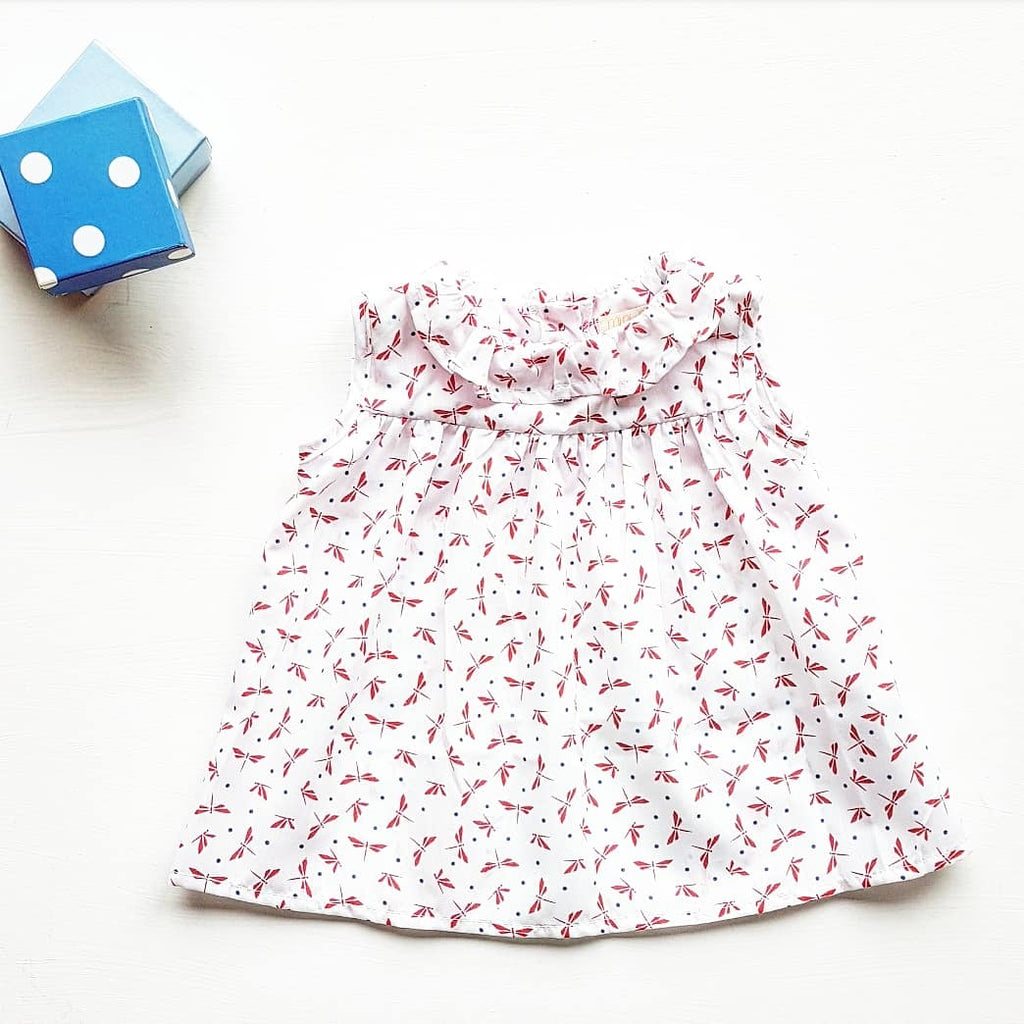Baby dress + matching bloomers - dragon fly