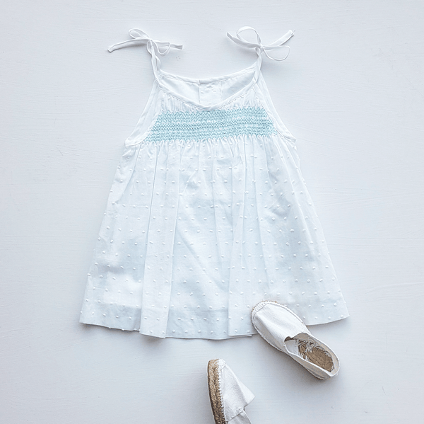 Smock sleeveless dress ¦ turquoise