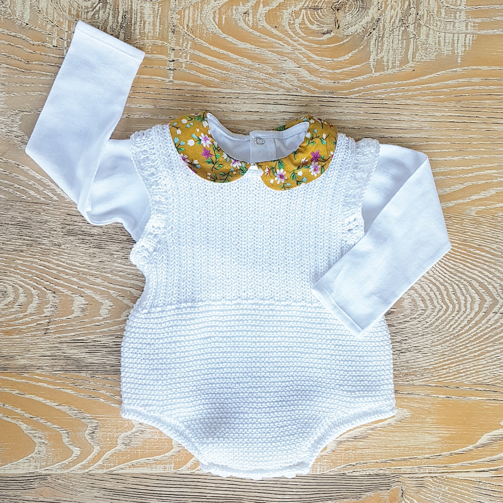 Baby knitted romper - size 0-6M only