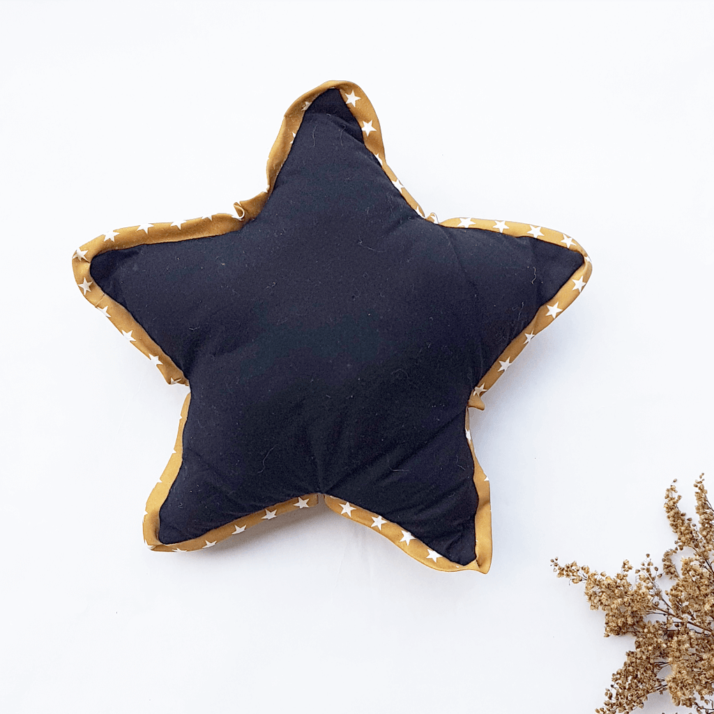 Children star cushion - black