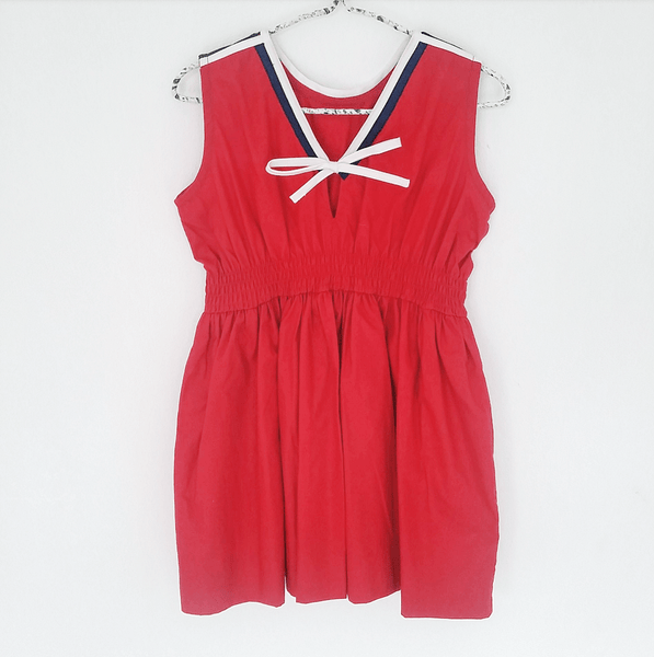 Sailor dress - size 3-4Y left