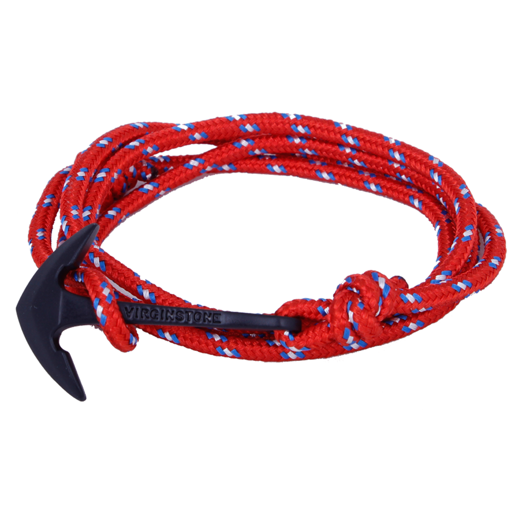 Virginstone - Pulsera Nylon Arsenal  Black Anchor - BuenaBarba.com