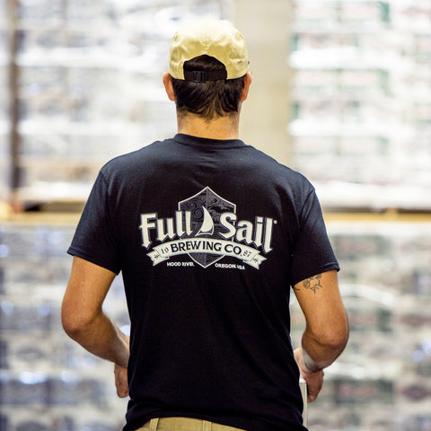 Full Sail Black Shield Tee