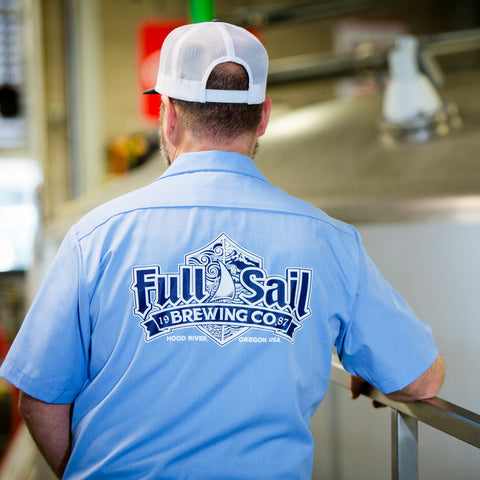 Full Sail Shield Work Shirt Light Blue