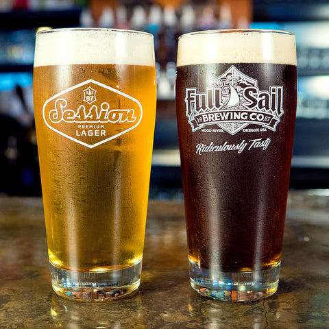 20 oz. Full Sail & Session Imperial Pint Glass