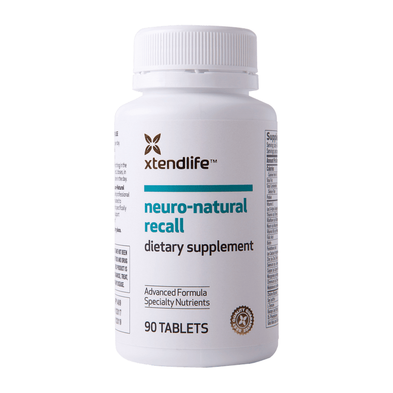 Buy our Neuro-Natural Recall online now in the United States - An advanced natural supplement supporting healthy brain function, mental sharpness & enhanced concentration.
