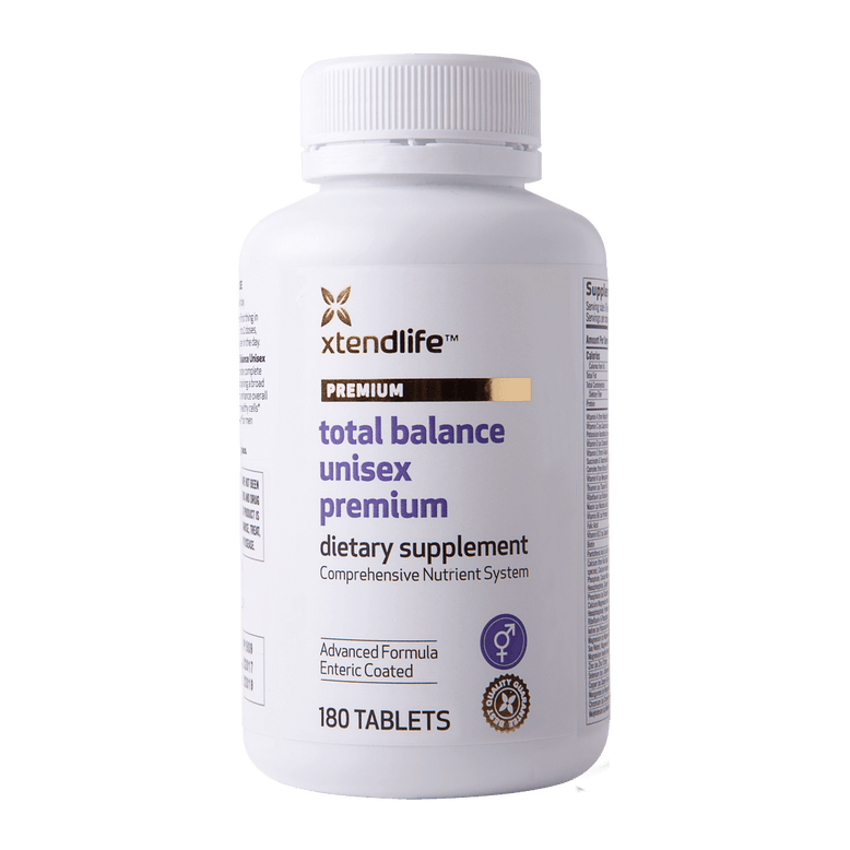 Buy our Total Balance Unisex Premium online now in the United States - An advanced multi-nutrient supplement containing bio-active vitamins, minerals, nutrients, antioxidants and herbs to help support optimal health, immunity & wellbeing.