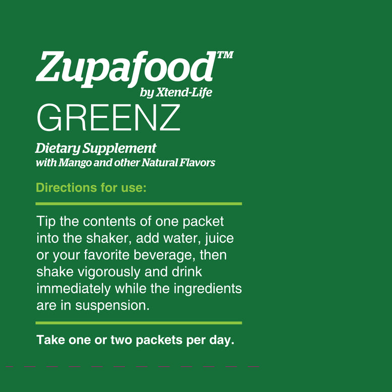 Buy our Zupafood™ GREENZ online now in the United States - Restore your body's balance with this rich array of green superfoods plus spirulina.