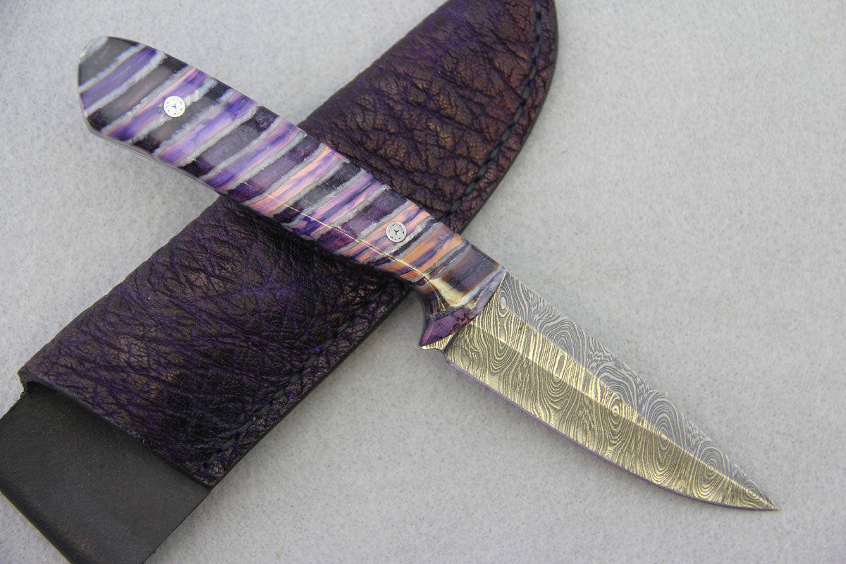 Sam Hawkins Whale Eye Damascus Spear Point
