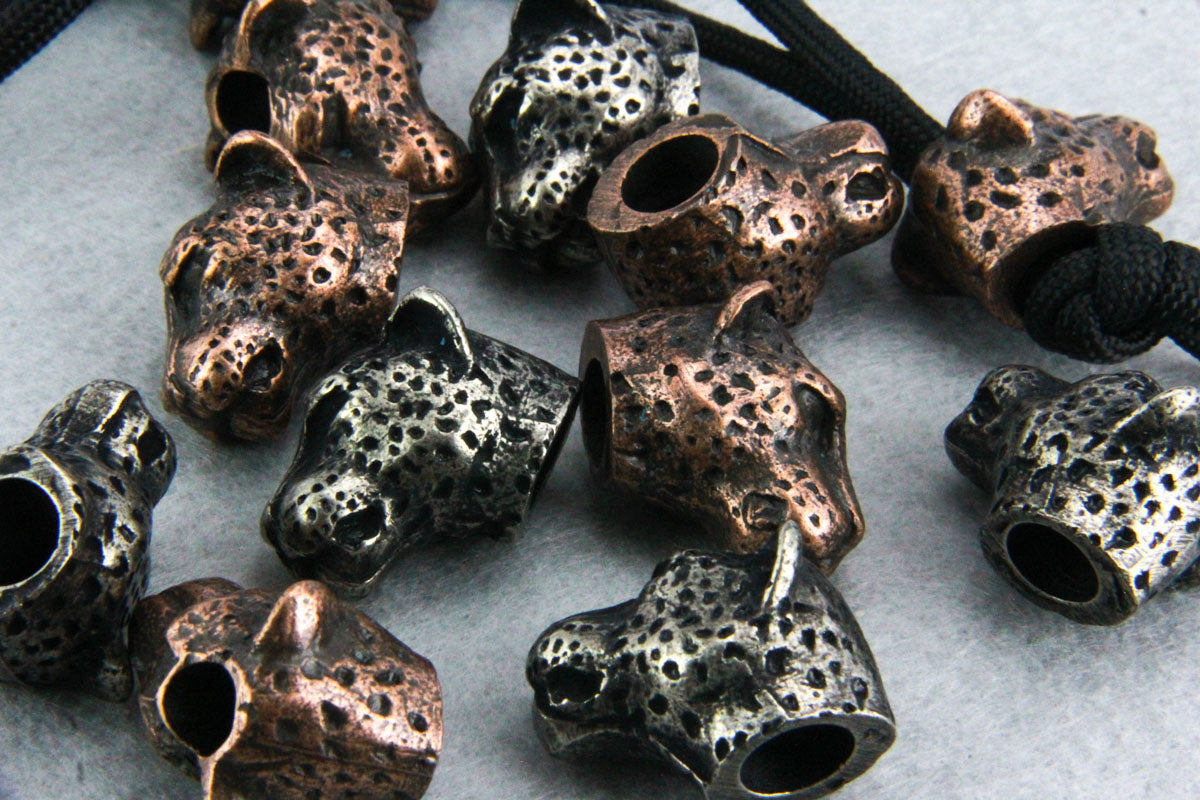 Cheetah Head Lanyard Bead
