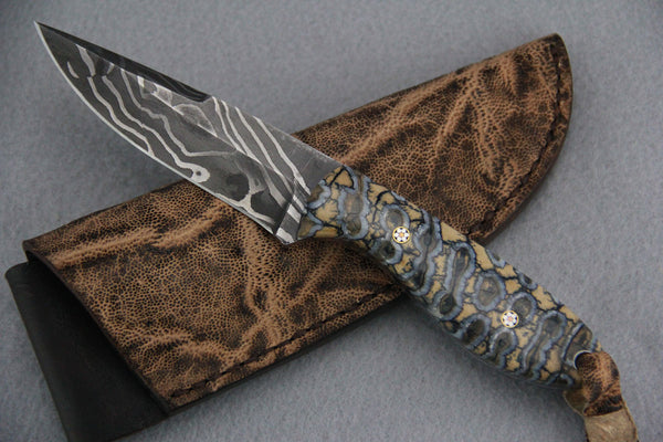 Sam Hawkins Wave Damascus False Tip Hunter