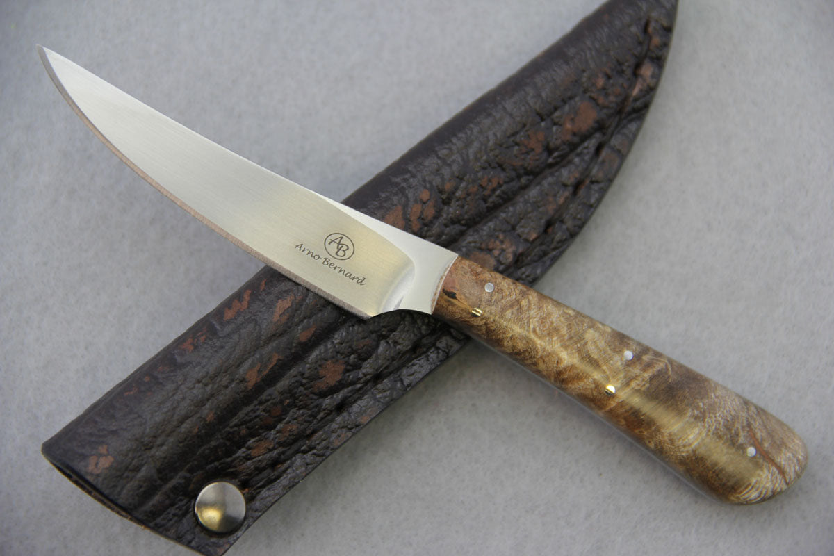 Arno Bernard - Porcupine Model w/ Maple Burl Handle - 5508