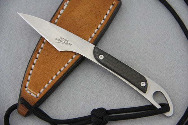 Gavin Dickerson Kiridashi Neck Knife w/ Carbon Fiber