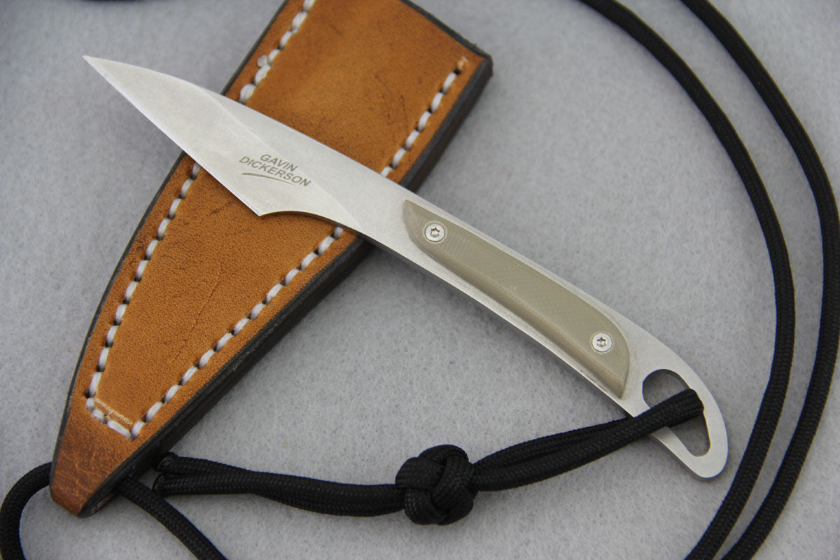 Gavin Dickerson Kiridashi Neck Knife w/ G10