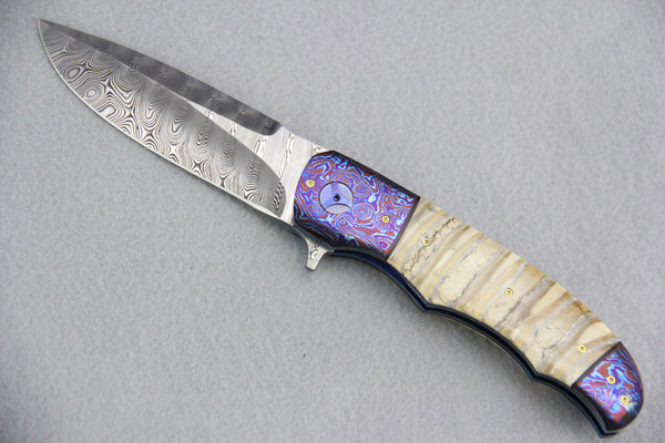 George Muller LL-BB Folder Mammoth Molar & Timascus Folder